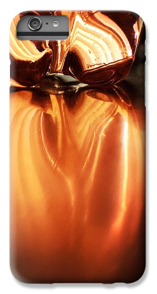 Orange iPhone 6 Plus Case - Bottle Reflection - Abstract Colorful Art Square Format by Matthias Hauser