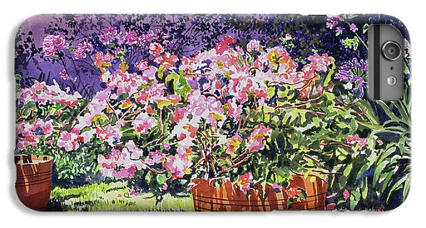 Beverly Hills iPhone 6 Plus Case -  Bougainvillea Flower Pots Beverly Hills by David Lloyd Glover