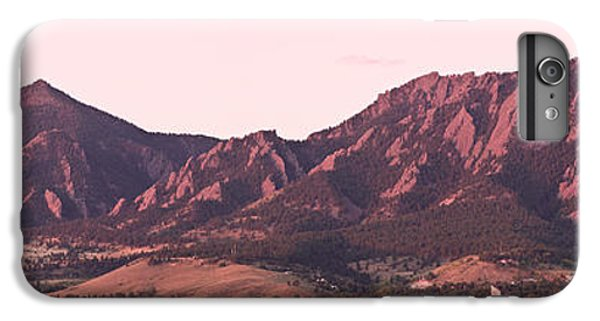 Boulder Colorado Flatirons 1st Light Panorama IPhone 6 Plus Case