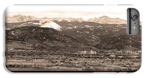 Boulder Colorado Sepia Panorama Poster Print IPhone 6 Plus Case