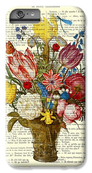Floral iPhone 6 Plus Case - Bouquet Of Flowers On Dictionary Paper by Madame Memento