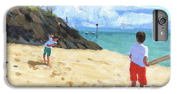 Cricket iPhone 6 Plus Case - Bowling And Batting, Abersoch by Andrew Macara
