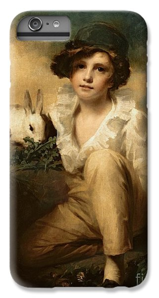 Boy And Rabbit IPhone 6 Plus Case by Sir Henry Raeburn