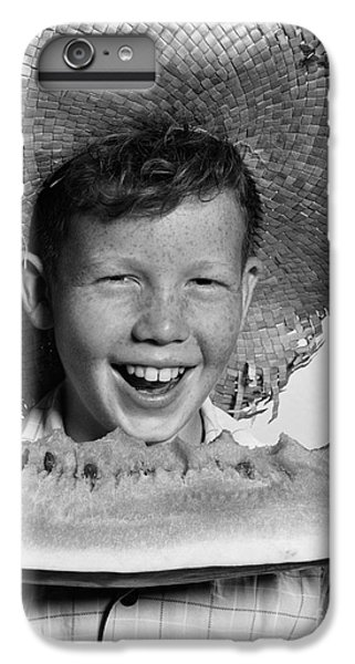 Boy Eating Watermelon, C.1940-50s IPhone 6 Plus Case by H. Armstrong Roberts/ClassicStock