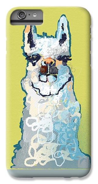 Bright Mustard Llama IPhone 6 Plus Case