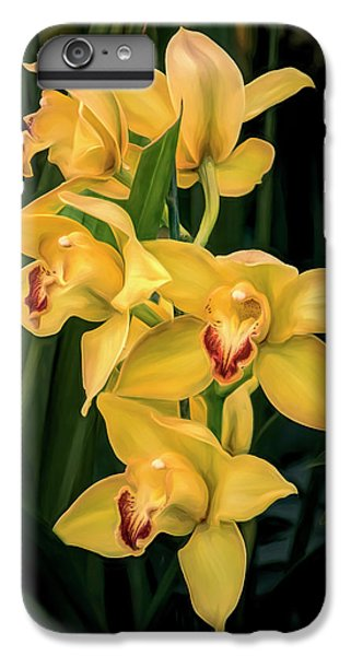 Orchid iPhone 6 Plus Case - Bright Yellow Orchids by Tom Mc Nemar