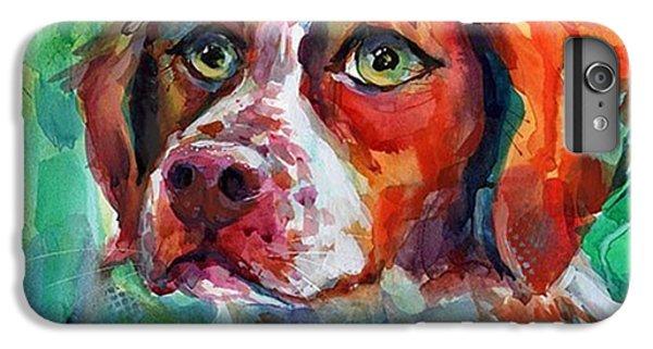 Brittany Spaniel Watercolor Portrait By IPhone 6 Plus Case