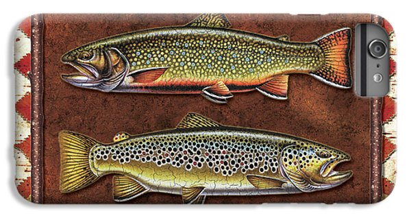Brook And Brown Trout Lodge IPhone 6 Plus Case by JQ Licensing