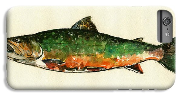 Brook Trout IPhone 6 Plus Case by Juan  Bosco