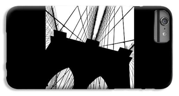 Brooklyn Bridge iPhone 6 Plus Case - Brooklyn Bridge Architectural View by Az Jackson