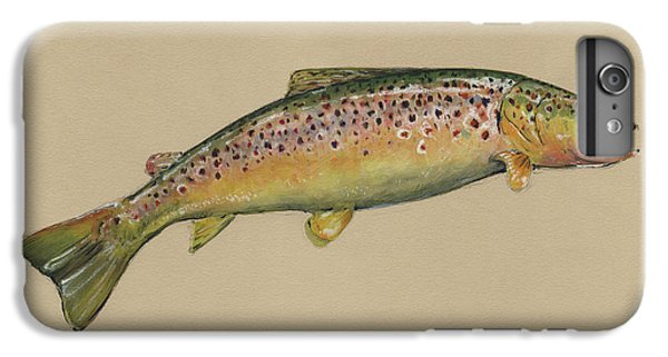 Brown Trout Jumping IPhone 6 Plus Case by Juan Bosco