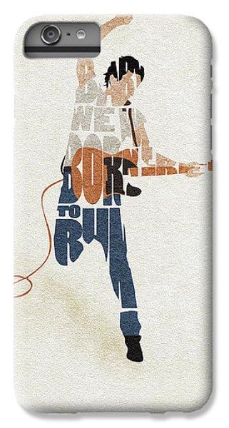 Folk Art iPhone 6 Plus Case - Bruce Springsteen Typography Art by Inspirowl Design