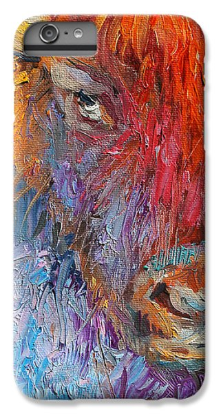 Buffalo Bison Wild Life Oil Painting Print IPhone 6 Plus Case by Svetlana Novikova