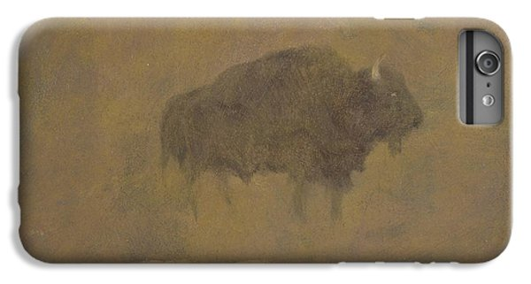 Buffalo In A Sandstorm IPhone 6 Plus Case by Albert Bierstadt