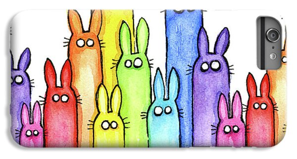 Bunny Rainbow Pattern IPhone 6 Plus Case