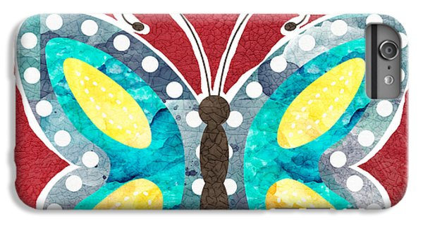 Butterfly iPhone 6 Plus Case - Butterfly Liberty by Linda Woods