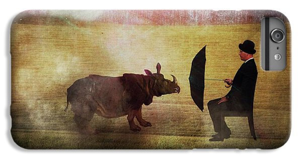 Rhinocerus iPhone 6 Plus Case - By The Light Of The Moon by Terry Fleckney