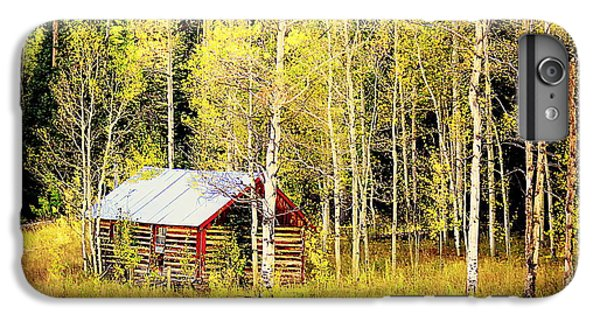 Cabin In The Golden Woods IPhone 6 Plus Case by Karen Shackles