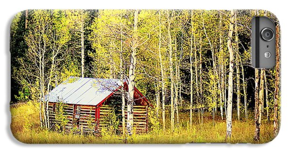 IPhone 6 Plus Case featuring the photograph Cabin In The Golden Woods by Karen Shackles