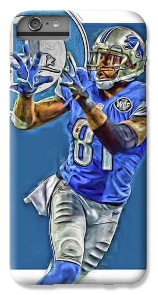 Lion iPhone 6 Plus Case - Calvin Johnson Detroit Lions Oil Art 2 by Joe Hamilton