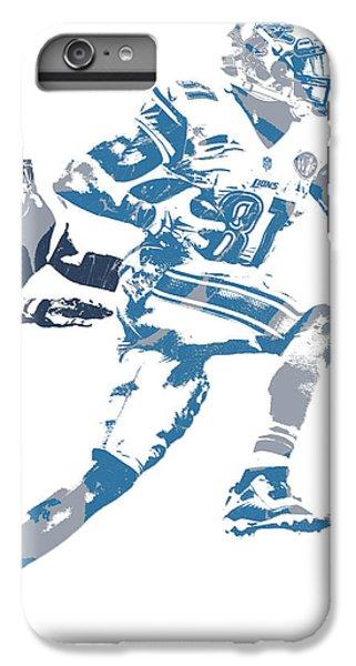 Lion iPhone 6 Plus Case - Calvin Johnson Detroit Lions Pixel Art 20 by Joe Hamilton