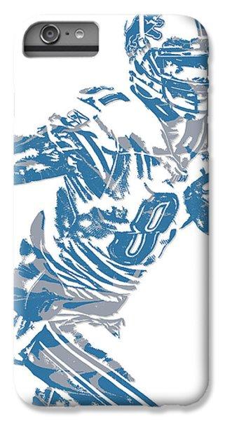 Lion iPhone 6 Plus Case - Calvin Johnson Detroit Lions Pixel Art 5 by Joe Hamilton