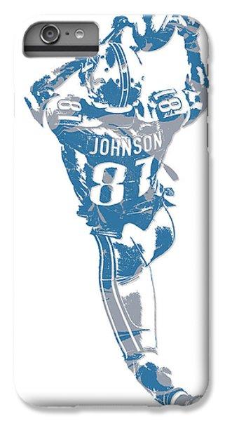 Lion iPhone 6 Plus Case - Calvin Johnson Detroit Lions Pixel Art 6 by Joe Hamilton