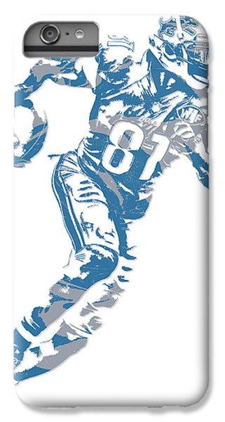 Lion iPhone 6 Plus Case - Calvin Johnson Detroit Lions Pixel Art 7 by Joe Hamilton