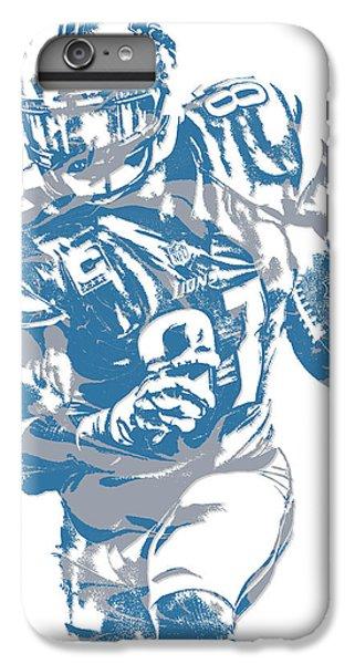 Lion iPhone 6 Plus Case - Calvin Johnson Detroit Lions Pixel Art 8 by Joe Hamilton