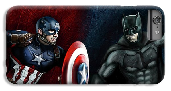 Captain America Vs Batman IPhone 6 Plus Case by Vinny John Usuriello