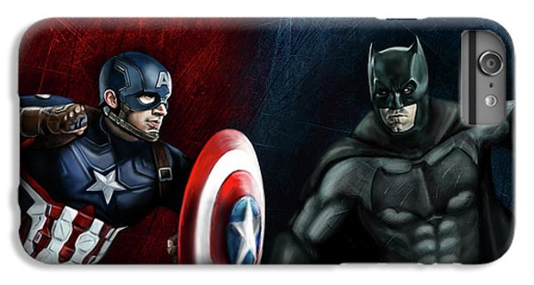 Captain America Vs Batman IPhone 6 Plus Case by Vinny John Usuriello