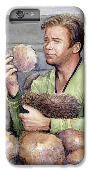 Science Fiction iPhone 6 Plus Case - Captain Kirk And Tribbles by Olga Shvartsur