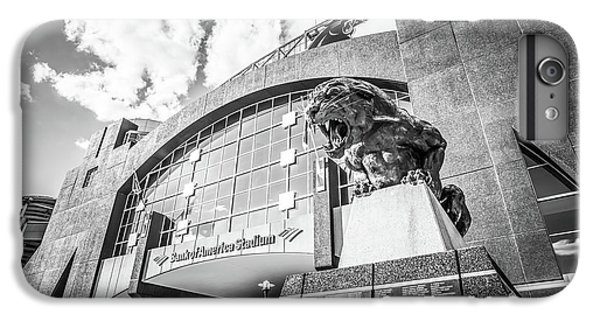 Carolina Panthers Stadium Black And White Photo IPhone 6 Plus Case by Paul Velgos