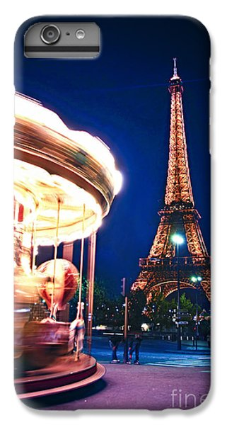 Carousel And Eiffel Tower IPhone 6 Plus Case by Elena Elisseeva