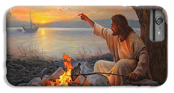 Boat iPhone 6 Plus Case - Cast Your Nets On The Right Side by Greg Olsen