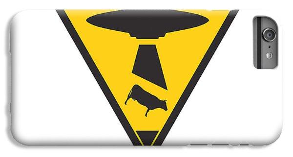 Caution Ufos IPhone 6 Plus Case by Pixel Chimp