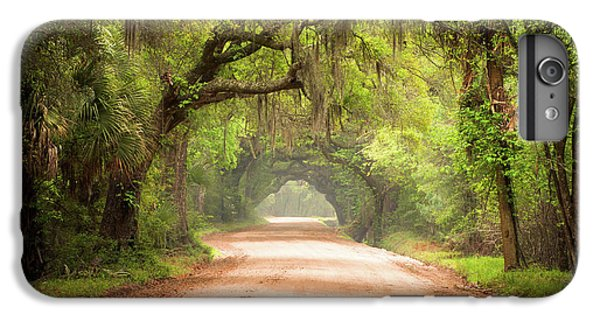 Nature Trail iPhone 6 Plus Case - Charleston Sc Edisto Island Dirt Road - The Deep South by Dave Allen