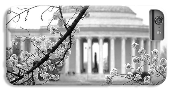 Cherry Tree And Jefferson Memorial Elegance  IPhone 6 Plus Case by Olivier Le Queinec