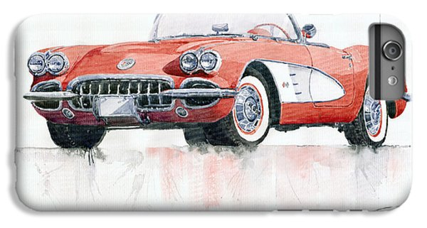 Car iPhone 6 Plus Case - Chevrolet Corvette C1 1960  by Yuriy Shevchuk