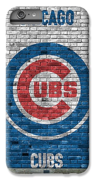 Chicago Cubs Brick Wall IPhone 6 Plus Case by Joe Hamilton