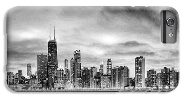 Chicago Gotham City Skyline Black And White Panorama IPhone 6 Plus Case