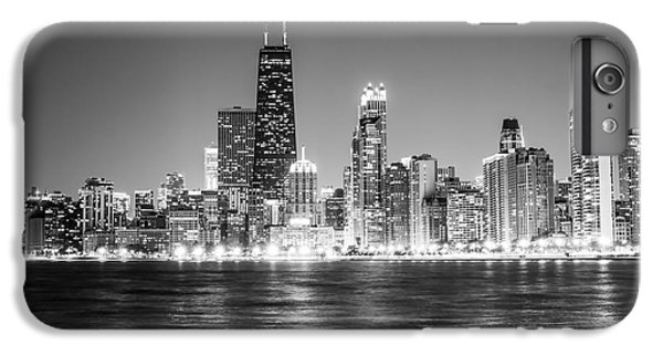 Chicago Lakefront Skyline Black And White Photo IPhone 6 Plus Case by Paul Velgos