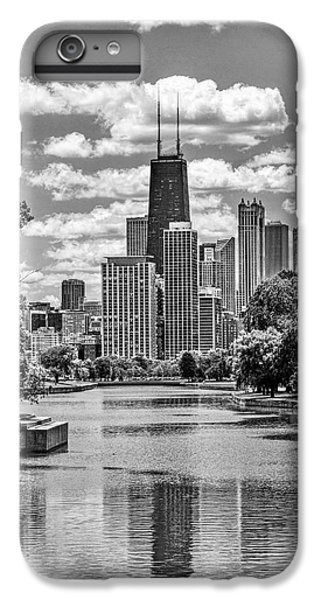 IPhone 6 Plus Case featuring the painting Chicago Lincoln Park Lagoon Black And White by Christopher Arndt