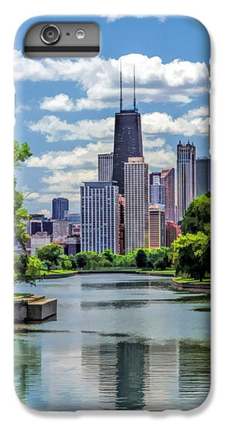 IPhone 6 Plus Case featuring the painting Chicago Lincoln Park Lagoon by Christopher Arndt