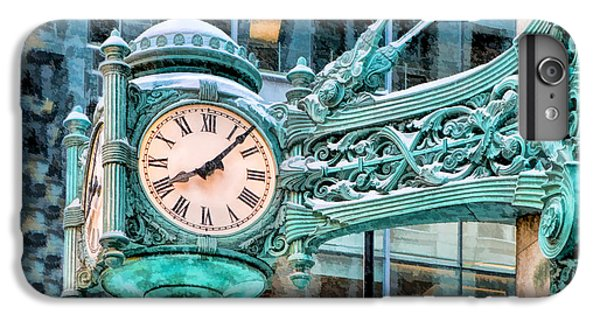 IPhone 6 Plus Case featuring the painting Chicago Marshall Field State Street Clock by Christopher Arndt