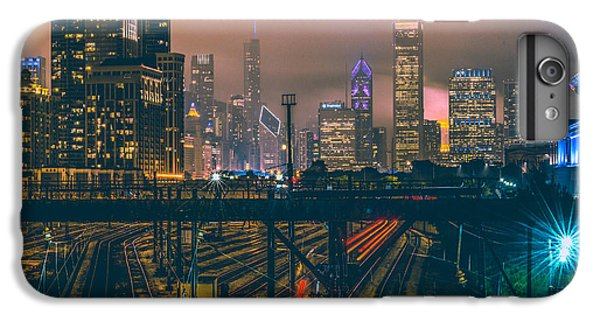 Transportation iPhone 6 Plus Case - Chicago Night Skyline  by Cory Dewald