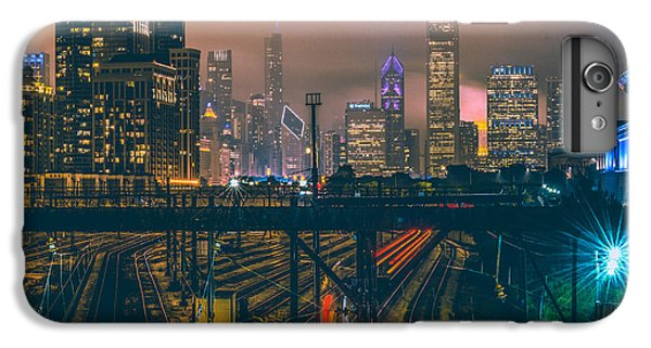 Chicago Night Skyline  IPhone 6 Plus Case by Cory Dewald