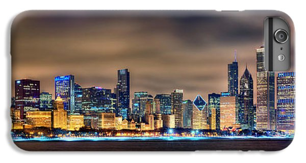 Chicago Skyline At Night Panorama Color 1 To 3 Ratio IPhone 6 Plus Case