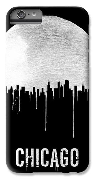 Chicago Skyline Black IPhone 6 Plus Case by Naxart Studio