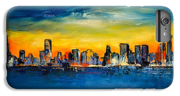 Chicago Skyline IPhone 6 Plus Case by Elise Palmigiani